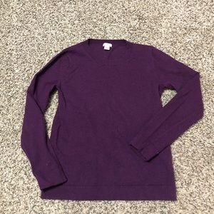 J.Crew purple crew neck sweater